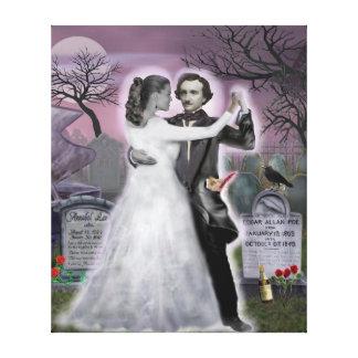 Edgar Allan Poe y Annabel Lee eternamente Impresión En Lienzo Estirada