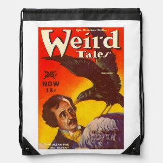 Edgar Allan Poe y portada de revista de la pulpa Mochilas