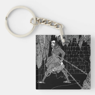 Edgar Allan Poe's Cask of Amontillado Double-Sided Square Acrylic Keychain