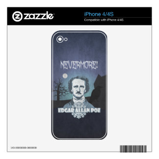 Edgar Allan Poe's Nevermore Decals For The iPhone 4S