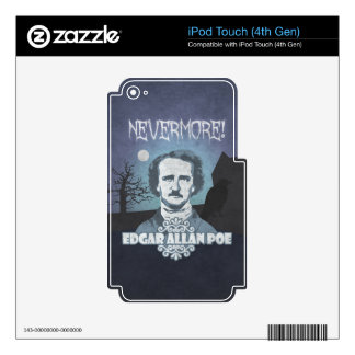 Edgar Allan Poe's Nevermore iPod Touch 4G Skins