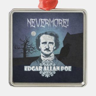 Edgar Allan Poe's Nevermore Metal Ornament