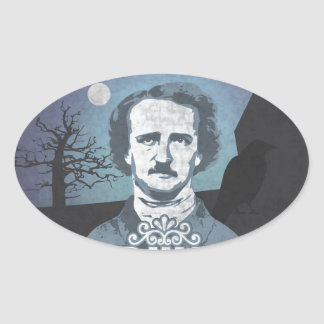 Edgar Allan Poe's Nevermore Oval Sticker