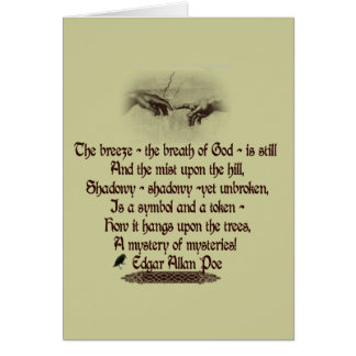 Edgar Allan Poe's Quote Greeting Card