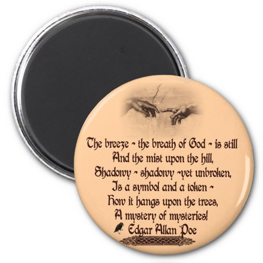 Edgar Allan Poe's Quote Magnet