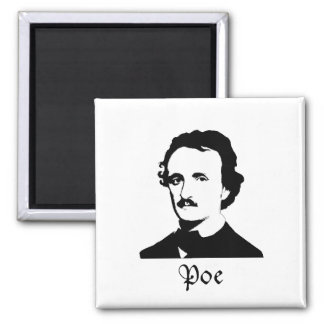 Edgar Allen Poe 2 Inch Square Magnet