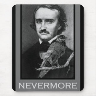 Edgar Allen Poe and his Raven Mouse Pad