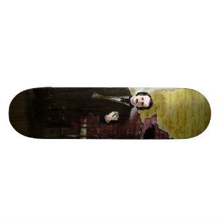 edgar allen poe and raven skateboard