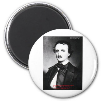 "Edgar Allen Poe ""Bouts Of Sanity"" Quote Gifts Tees Refrigerator Magnets"