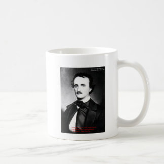 """Edgar Allen Poe """"Bouts Of Sanity"""" Quote Gifts Tees Classic White Coffee Mug"""