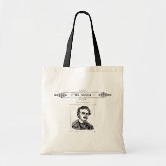 Edgar Allen Poe - el cuervo Bolsa Lienzo