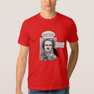 Edgar Allen Poe--El retruécano Cuervo-lindo Remera