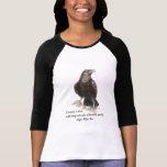 Edgar Allen Poe Insanity quote Watercolor Raven Shirt