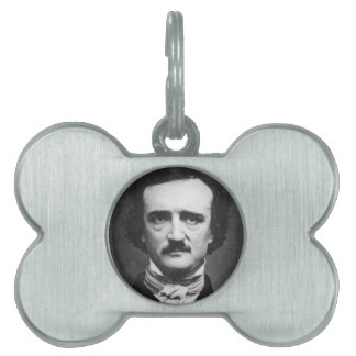 Edgar Allen poe Placa De Nombre De Mascota