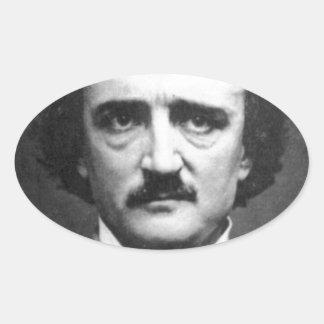Edgar Allen poe Colcomanias Oval Personalizadas
