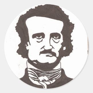 Edgar Allen poe Etiquetas Redondas