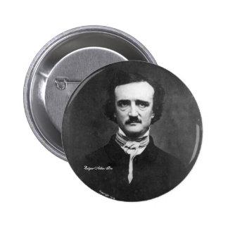 Edgar Allen Poe, pin-on Pinback Button