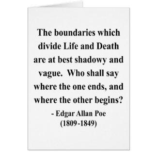 Edgar Allen Poe Quote 10a Card