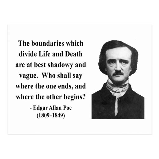 life and death as portrayed in edgar allan poes essay For edgar allan poe,  j gerald kennedy, poe, death and the life of writing  edgar allan poe and the detective story narrative in:.
