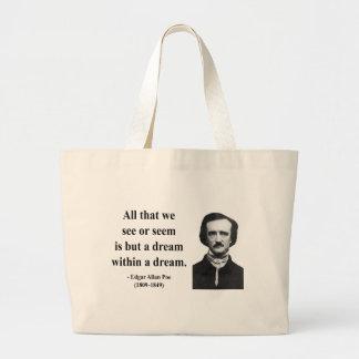 Edgar Allen Poe Quote 1b Large Tote Bag