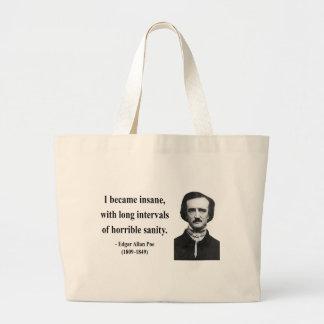 Edgar Allen Poe Quote 2b Large Tote Bag