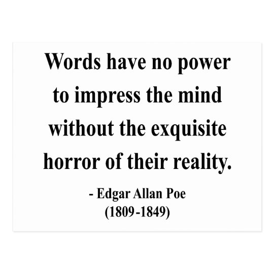 Edgar Allen Poe Quote 4a Postcard
