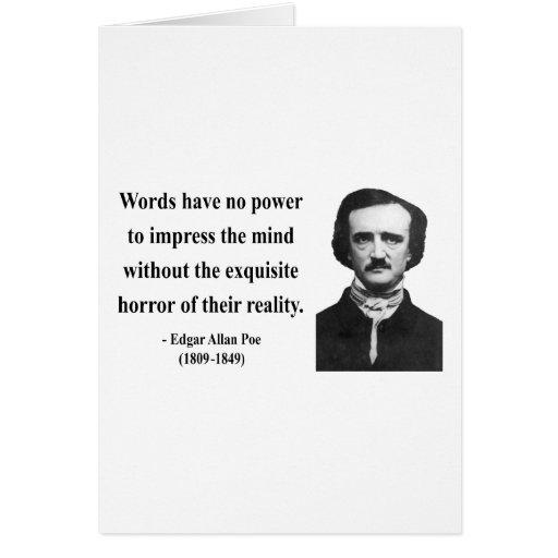 Edgar Allen Poe Quote 4b Card