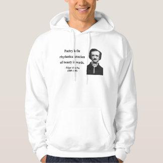 Edgar Allen Poe Quote 5b Hooded Pullover