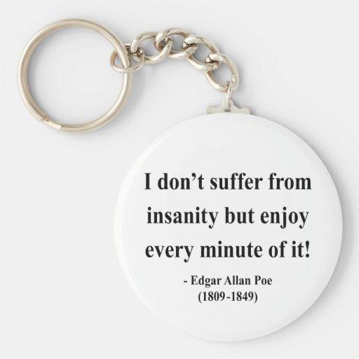 Edgar Allen Poe Quote 6a Basic Round Button Keychain