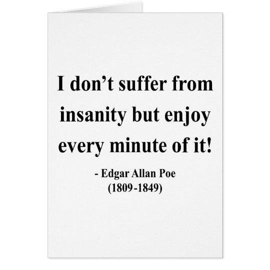Edgar Allen Poe Quote 6a Card