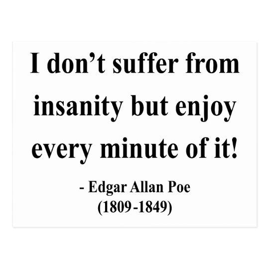 Edgar Allen Poe Quote 6a Postcard