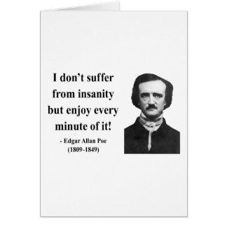 Edgar Allen Poe Quote 6b Card