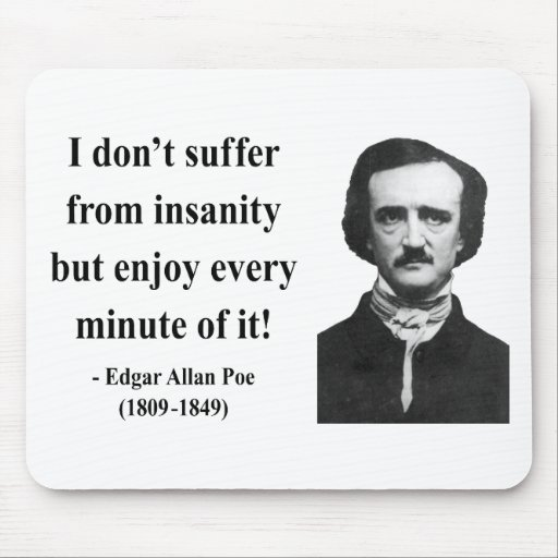Edgar Allen Poe Quote 6b Mouse Pad