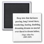 Edgar Allen Poe Quote 8a Refrigerator Magnets