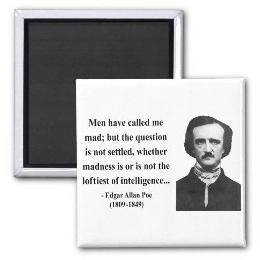 Edgar Allen Poe Quote 9b Refrigerator Magnet