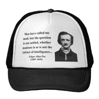 Edgar Allen Poe Quote 9b Trucker Hat