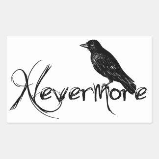 Edgar Allen Poe Raven Nevermore Halloween Rectangular Sticker