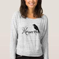 Edgar Allen Poe Raven Nevermore Halloween T-shirt