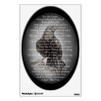Edgar Allen Poe Raven Poem, Nevermore Quote Wall Decal
