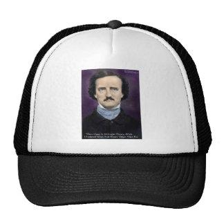 """Edgar Allen Poe regalos y tarjetas de la cita """"del Gorros Bordados"""