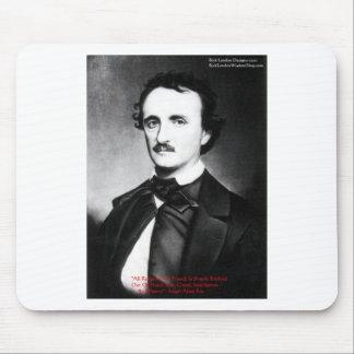 """Edgar Allen Poe """"religión es"""" regalos de la cita d Mouse Pads"""