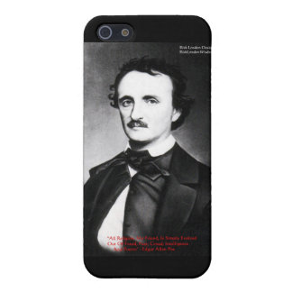 "Edgar Allen Poe ""Religion Is"" Wisdom Quote Gifts Case For iPhone SE/5/5s"