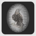 "Edgar Allen Poe ""The Raven"" Halloween Poem bird Square Sticker"
