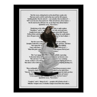 Edgar Allen Poe The Raven Poem Poster