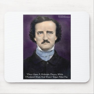 "Edgar Allen Poe ""The Raven"" Quote Gifts & Cards Mouse Pad"