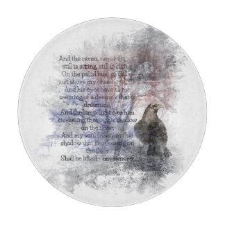"Edgar Allen Poe ""The Raven"" raven bird Halloween Cutting Board"
