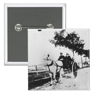Edgar Degas (1834-1917) and a friend in the countr 2 Inch Square Button