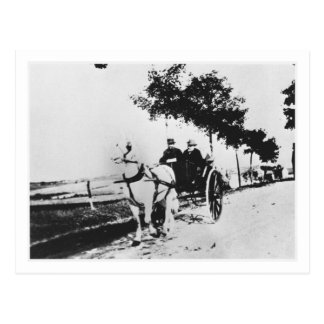 Edgar Degas (1834-1917) and a friend in the countr Postcards