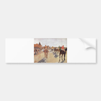 Edgar Degas - 1869-72 Jockeys @ Grand Stand Horse Bumper Sticker