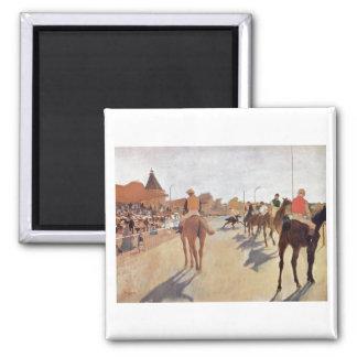 Edgar Degas - 1869-72 Jockeys @ Grand Stand Horse Magnet